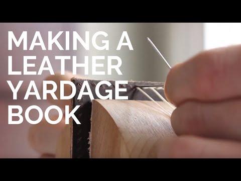 Making A Leather Golf Yardage Book