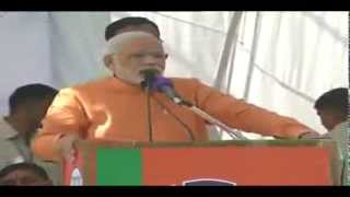 Shri Narendra Modi addressing a Public Meeting in Mandsaur, Madhya Pradesh
