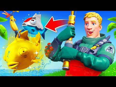 Finding the *RAREST* FISH in Fortnite! (Overpowered Loot)