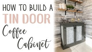 DIY Faux Tin Door Cabinet
