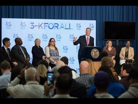 Mayor de Blasio Announces 3-K For All