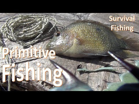Primitive Fishing Survival -Hook and Line-