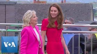 Jill Biden, Duchess of Cambridge Visit Cornwall School