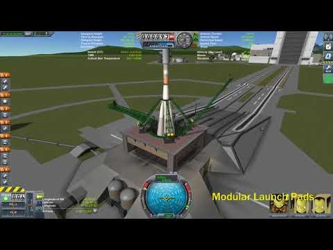KSP Modular Launch Pads Revised Soyuz Pad Demo