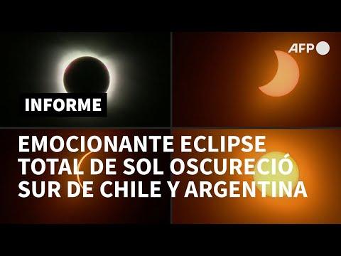 AFP Español: Emocionante eclipse total de Sol oscureció sur de Chile y Argentina | AFP