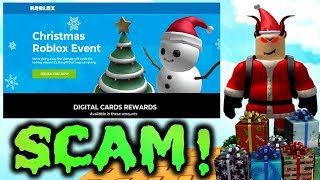 Please Don't Fall For This Christmas ROBLOX Scam...