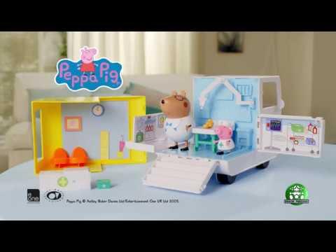 Peppa Pig Το Κινητό Ιατρείο της Πέππα με 2 Φιγούρες