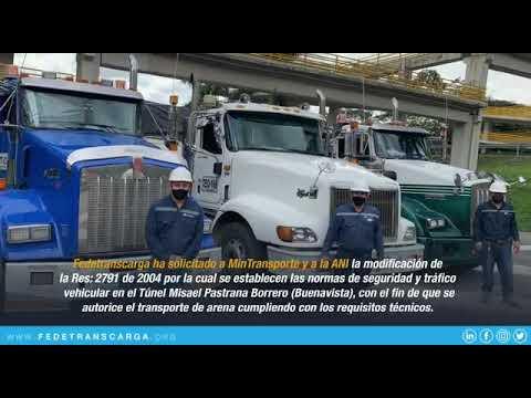Prueba de transporte de materiales en Puente Buenavista (Colombia)