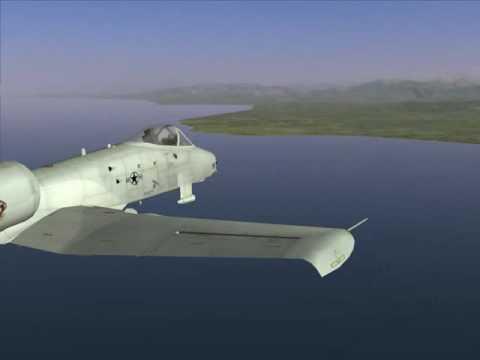 Введение: Управление самолетом. Тангаж, крен, рысканье (A-10A)