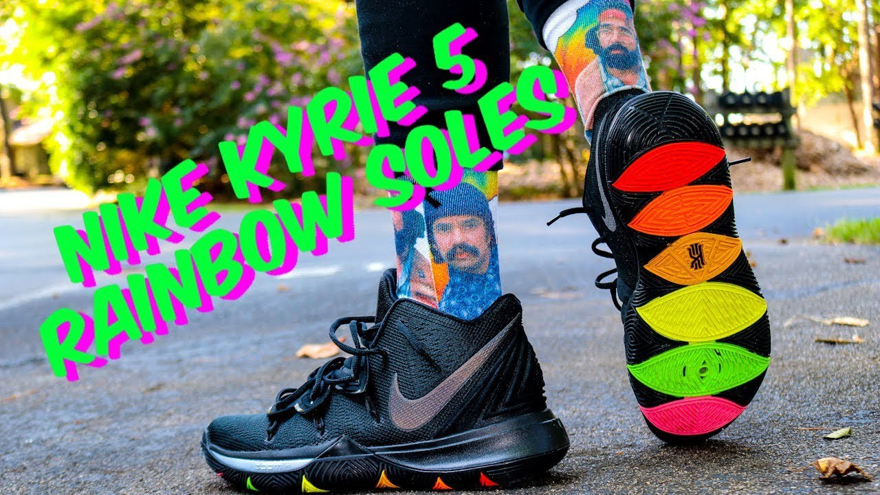 NIKE KYRIE 5 RAINBOW SOLES REVIEW