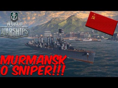 World of Warships - O SNIPER RUSSO TA NA AREA! MURMANSK O NAVIO PREMIUM!