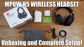 62a9548ca90 mpow h8 vs mpow h5 mpow noise cancelling headphones review