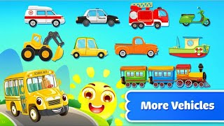Let's Play • Car Builder • for kids, puzzle, Car builder vahicles learn, Constrauction learn