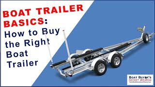 Learn Boat Trailer Basics, How to Buy the Right #Boat Trailer on Used Boats or #Boat Dealer