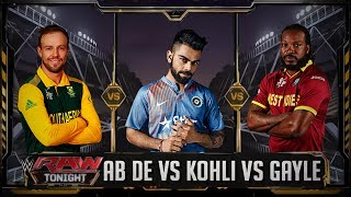 Virat Kohli VS AB de Villiers VS Chris Gayle - Triple Threat TLC Match