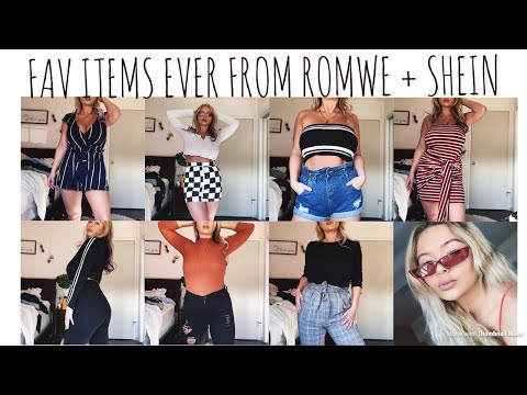 MY FAV ITEMS EVER FROM ROMWE + SHEIN Try-On | Cassidy Coles