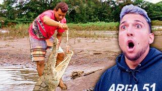 HAND FEEDING WORLD'S LARGEST CROCODILES (Dangerous)