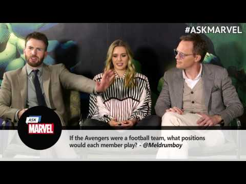 Q&A with Chris Evans, Elizabeth Olsen and Paul Bettany
