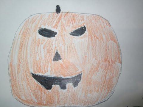 я рисую картинки на тему хэллоуин