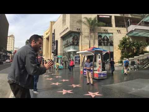 Jeff Rose Preaching Christ at Hollywood Blvd