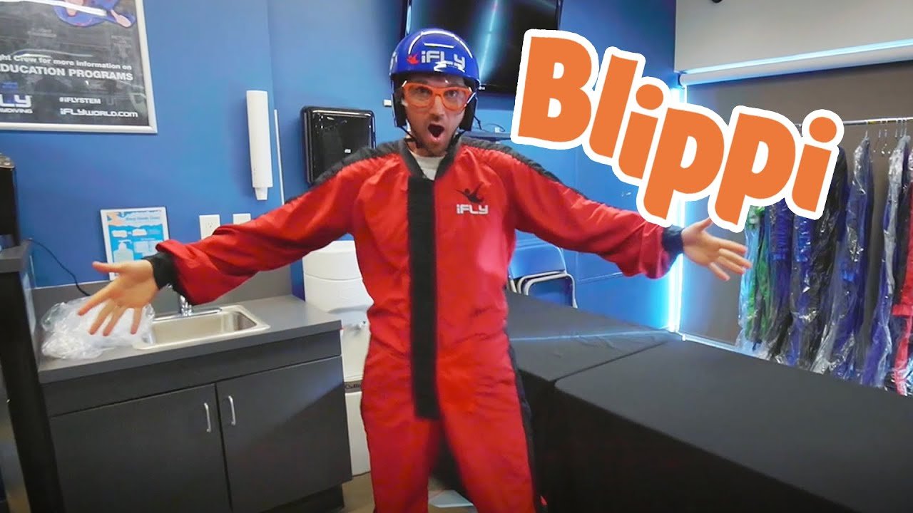 Blippi Goes Indoor Sky Diving | Learning WIth Blippi | Kids TV Shows