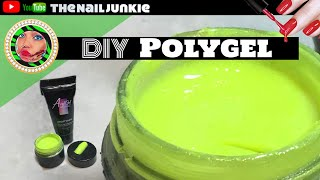 Polygel | DIY Color Polygel Tutorial |