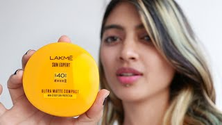 BEST Compact For Summer _ SPF 40, Lakme Sunscreen Matte Compact Review