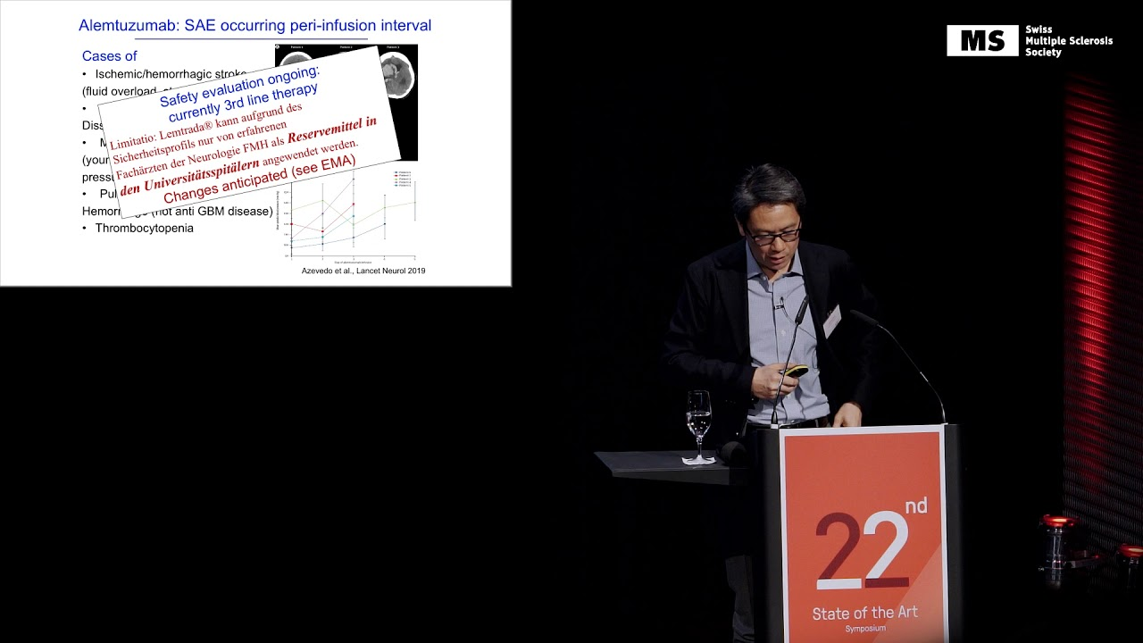 22nd State of the Art Symposium – Andrew Chan: MS Medications 2020 – Update on Safety Aspects