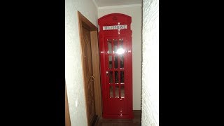 английская телефонная будка своими руками/  Red telefone box DIY