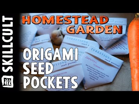 Turkeysong Origami Seed Pocket/Packet/Envelope...(it's sow cool)
