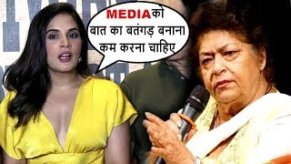 Richa Chaada TROLLS The Media Reporte Over Saroj Khan Casting Couch Controversy