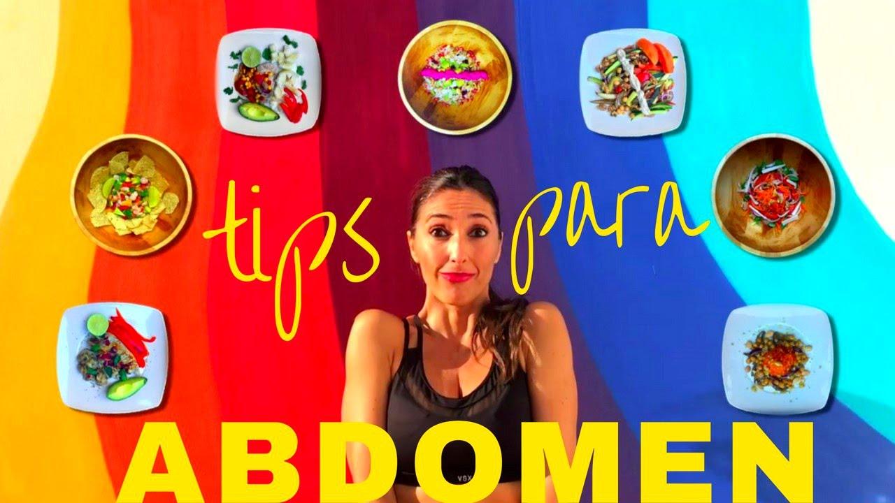 menu semanal para adelgazar abdomen y cintura