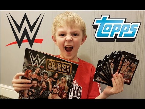 WWE THE ULTIMATE COLLECTION TOPPS STICKER BOOK ALBUM PACK OPENING