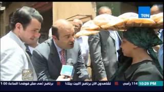وزير التموين في جولة مفاجئة لإحدى أفران الخبز