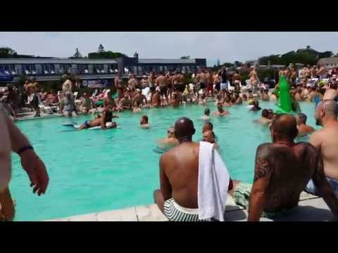 Provincetown Inn Thursday Pool Party during Bear Week 2014 (4K Video)