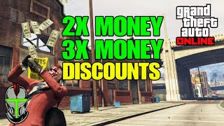 2X MONEY 3X MONEY & DISCOUNTS (FREE Vehicle) GTA Online