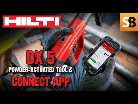 Hilti DX 5 Powder-actuated Tool & Hilti Connect App