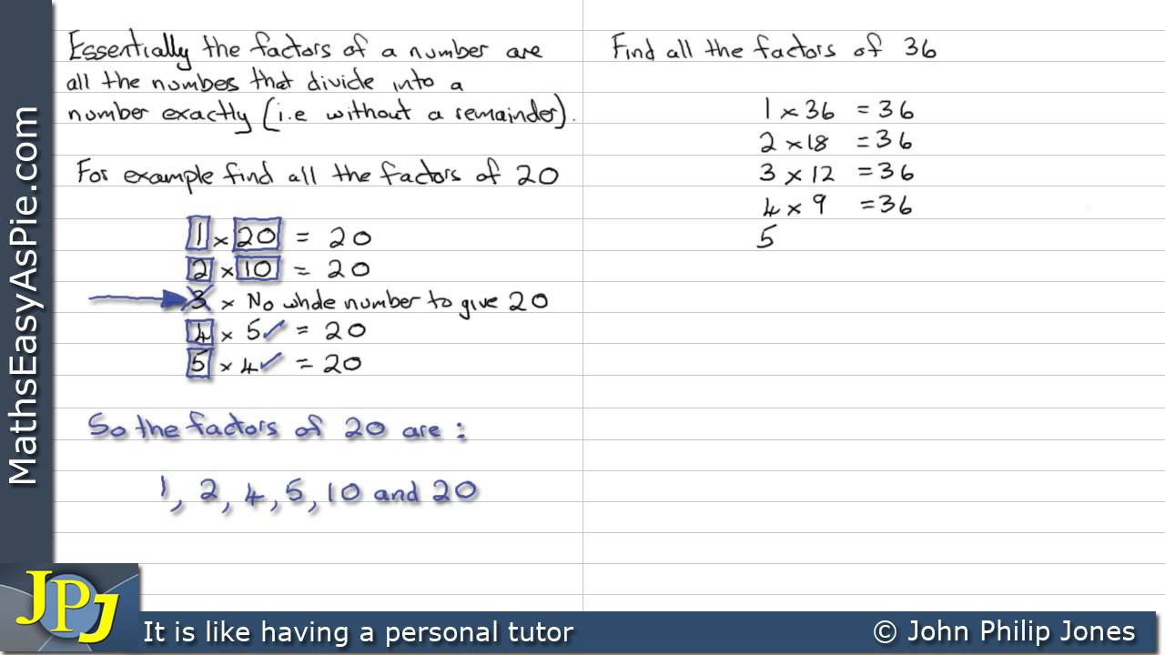 How to find Factors of a number - YouTube
