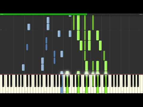 Sword Art Online OST - A Tender Feeling/In Your Past (Synthesia Piano Tutorial) | Theishter