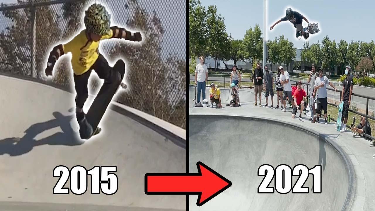 JD SANCHEZ 6 YEAR SKATE PROGRESSION!!!