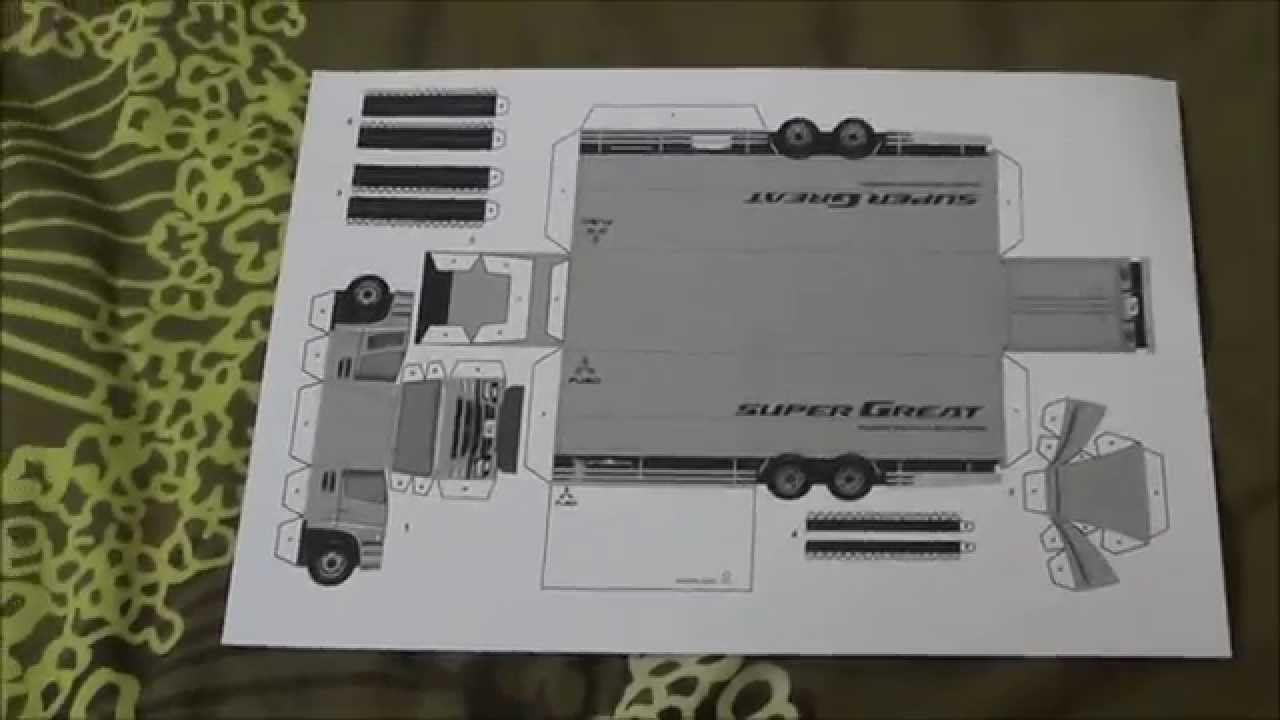 Papercraft Mitsubishi Fuso Super Great Truck Youtube