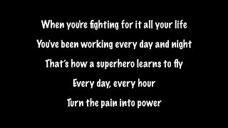 The Script - Superheroes (Lyrics Official Audio)