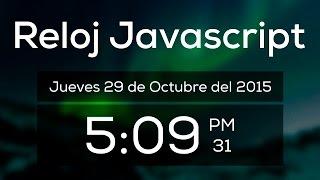 Tutorial Como hacer un Reloj con HTML, CSS y Javascript