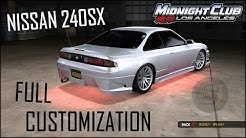 Midnight Club Los Angeles Car Customization - 1998 Nissan 240SX Midnight Club: LA Xbox One Gameplay