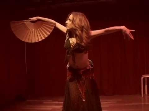 "Flamenco Belly Dance Fusion Fan dance to Frida soundtrack ""Burn it Blue"" ~ Sira Belly dancer NYC"