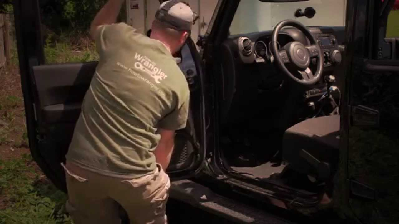 How to remove Jeep Wrangler power doors & How to remove Jeep Wrangler power doors - YouTube