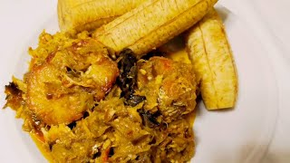 how to cook egg plant sauce with plantain Yummy food
