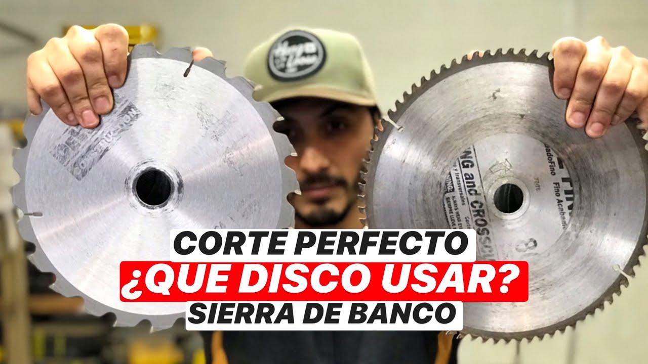 ¿QUE DISCO USAR? SIERRA DE BANCO, PROYECTO MUEBLE