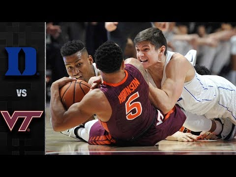 Duke vs. Virginia Tech Basketball Highlights (2017-18)