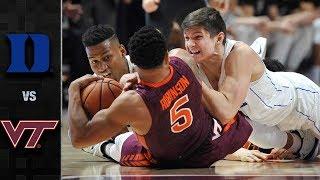 Duke vs. Virginia Tech Basketball Highlights (2017-18)